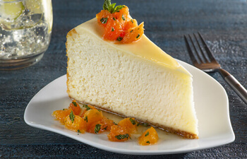 Cheesecake with Citrus Salsa
