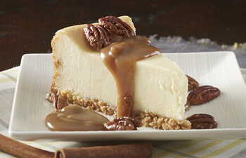 Cinnamon Whiskey Pecan Caramel Cheesecake