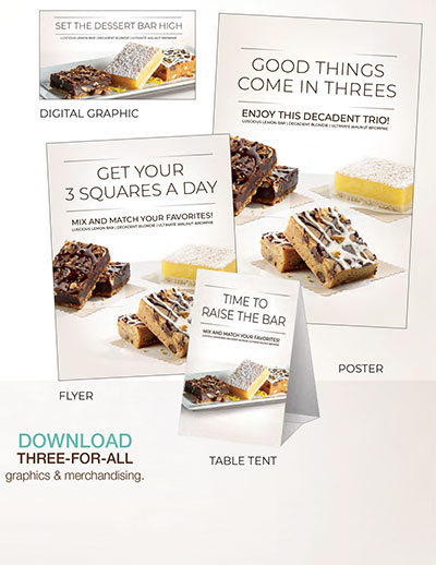 Three-for-All Dessert Bars Media Pack