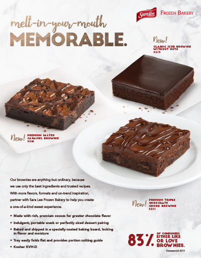Sara Lee<sup>&reg;</sup> Brownies Brochure