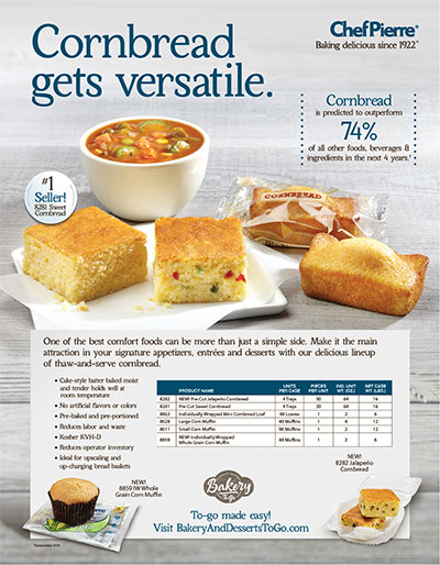 Chef Pierre<sup>&reg;</sup> Cornbread Culinary Inspiration Brochure